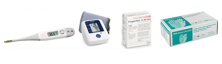 Fieber-Thermometer, Blutdruckmessgerät, Latex, Dahlhausen Handschuhe, Testgeräte und weitere Produkte
